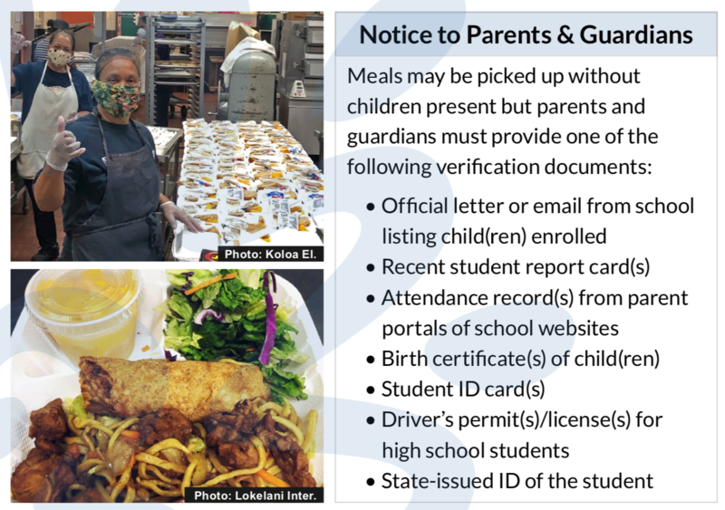 Grab and Go Notice to Parents and Guardians
