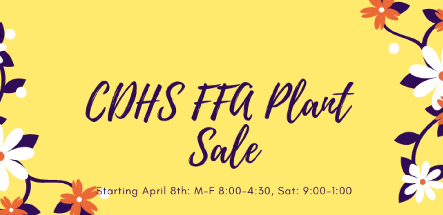 CDHS FFA Plant Sale