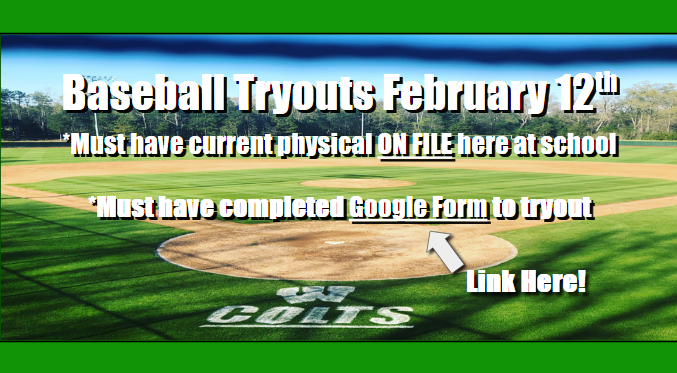 WSHS Baseball Tryouts will be February 12th!! Featured Photo