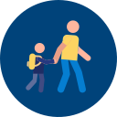 icon of parent and child walking