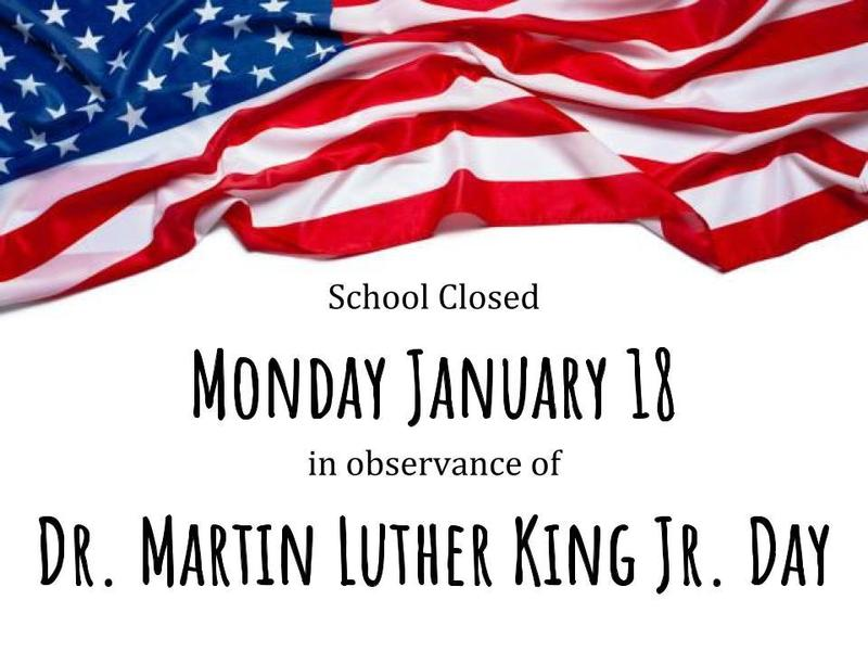 School Closed Monday January 18 Featured Photo