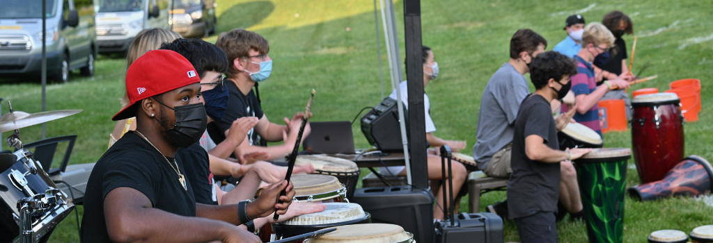 Drum circle from Spring 2021 concert