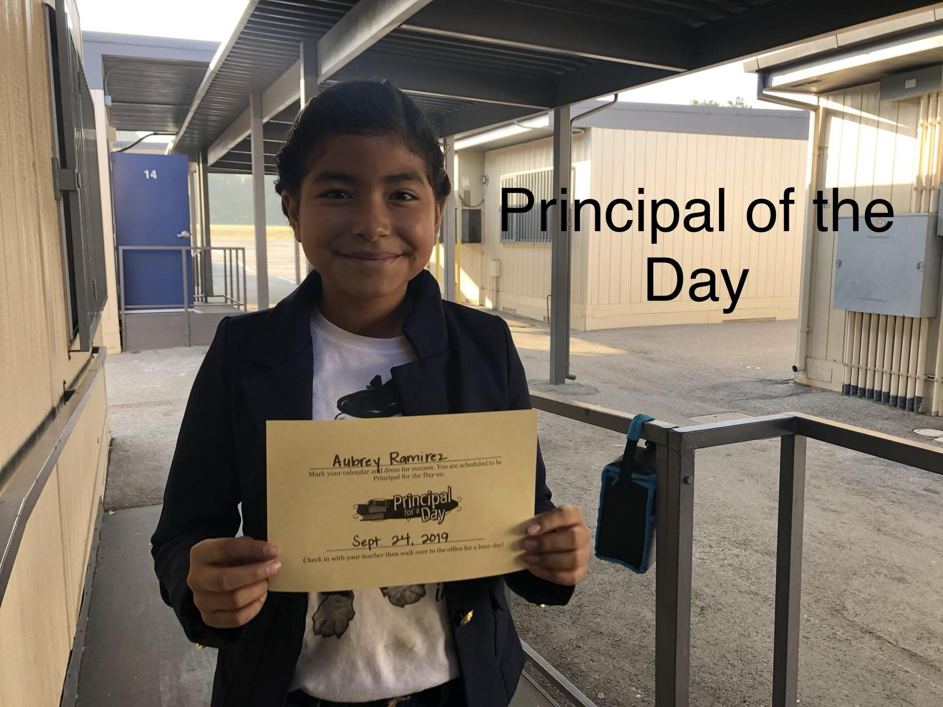 Principal of the Day