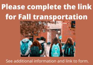 Fall Transportation Form