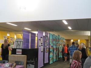 Visitors were able to see many different kinds of artwork.