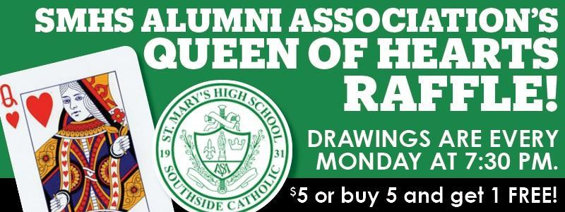 Queen of Hearts Raffle Every Monday