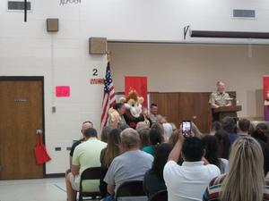 Daren the Lion at D.A.R.E. graduation.