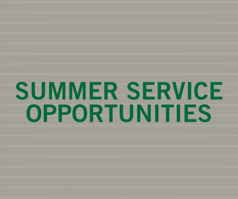 Summer Service Opportunities Featured Photo