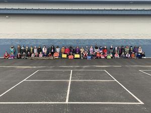 Kindergarten Students Support Community