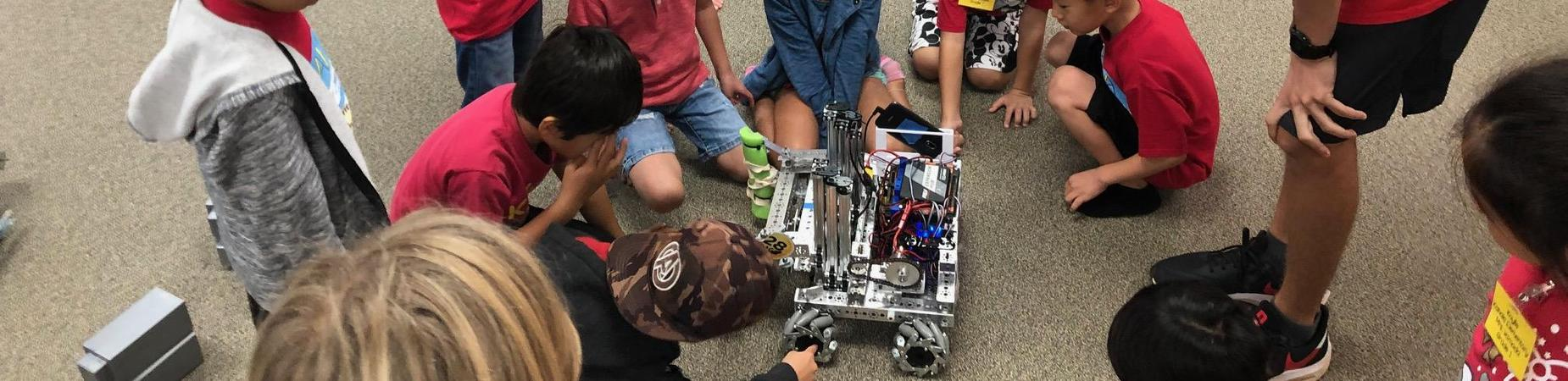 students watching Kalani Robotics Demonstration