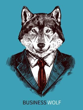 sharply dressed wolf