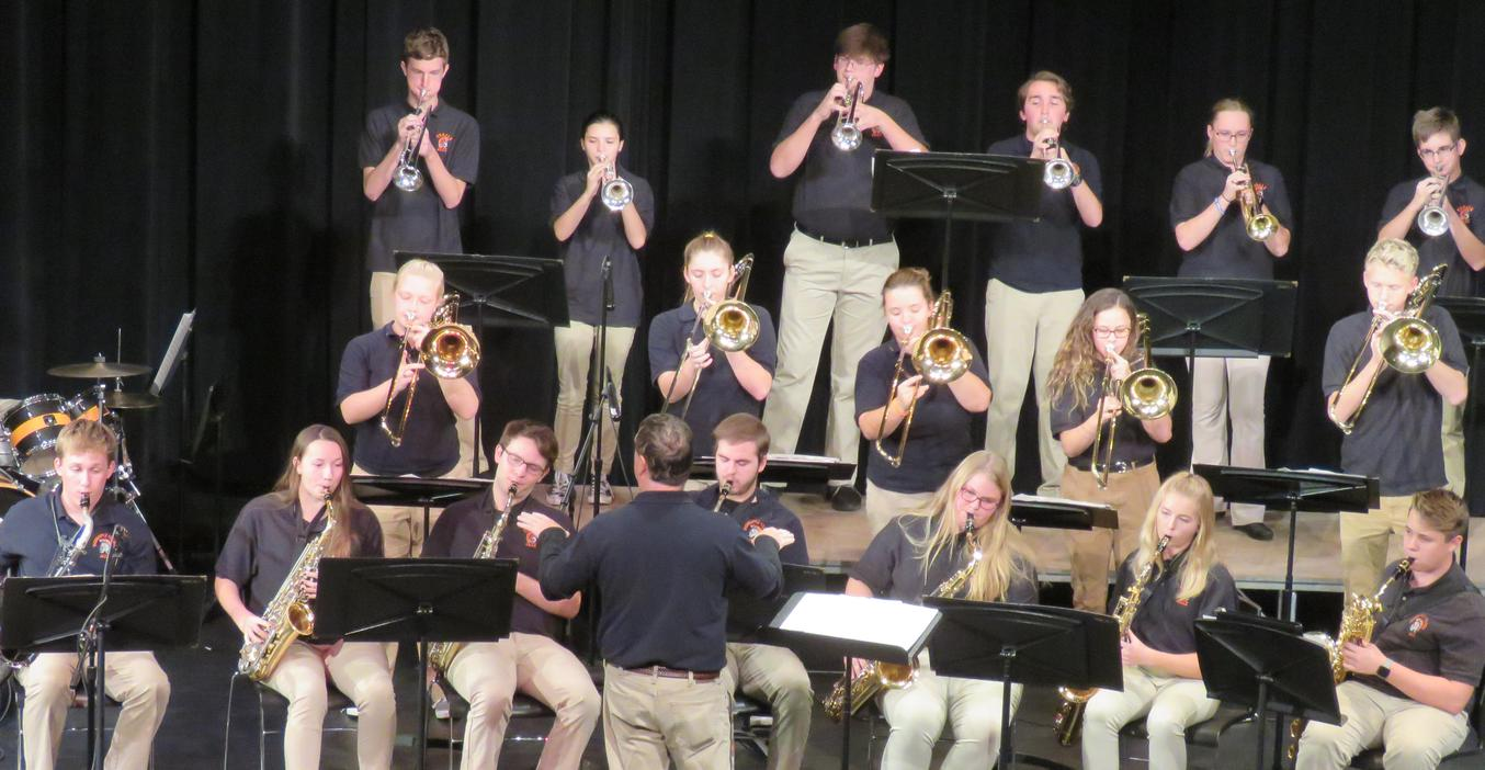 The TKHS Jazz Band performs.