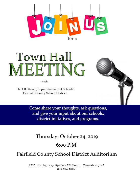 Town Hall Meeting this Thursday with Dr. J.R. Green Featured Photo