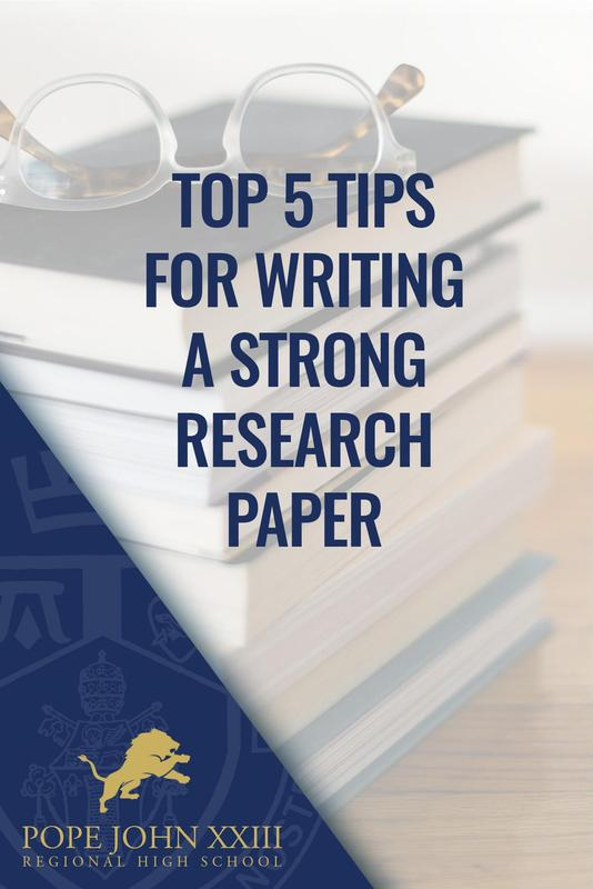 Tips Strong Research Paper Pope John
