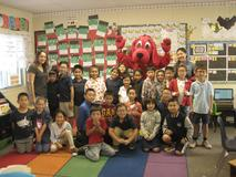 Clifford The Big Red Dog, visiting Mrs. Yamate's Class!
