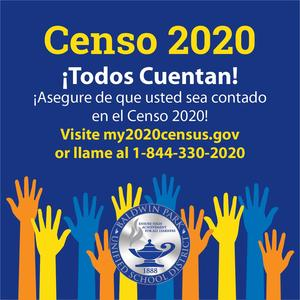 ¡Ayúdanos a asegurar un alto logro para TODOS los estudiantes contándote a ti mismo durante el Censo 2020!