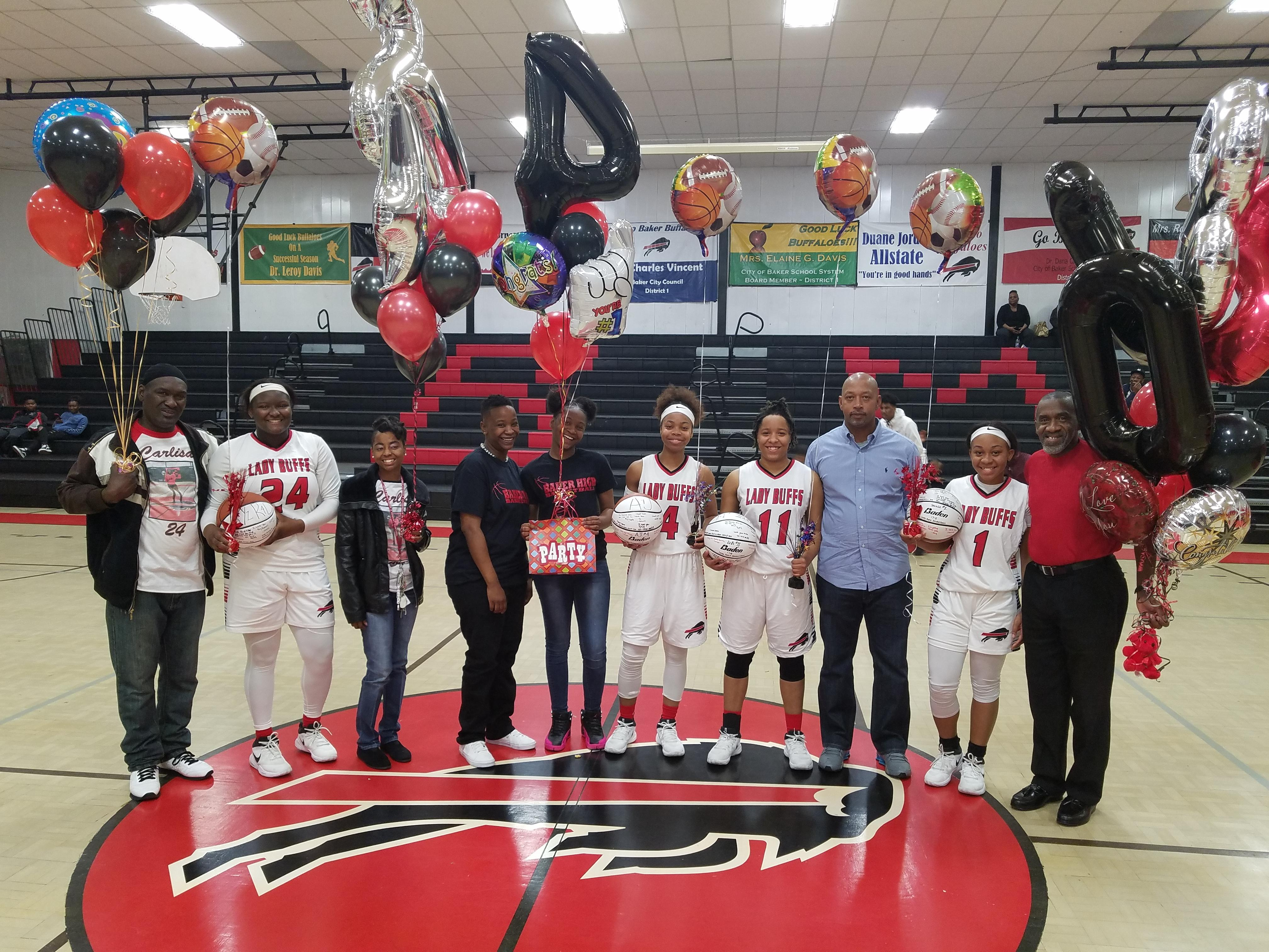 Group photo of Baker High Senior Lady Buffs