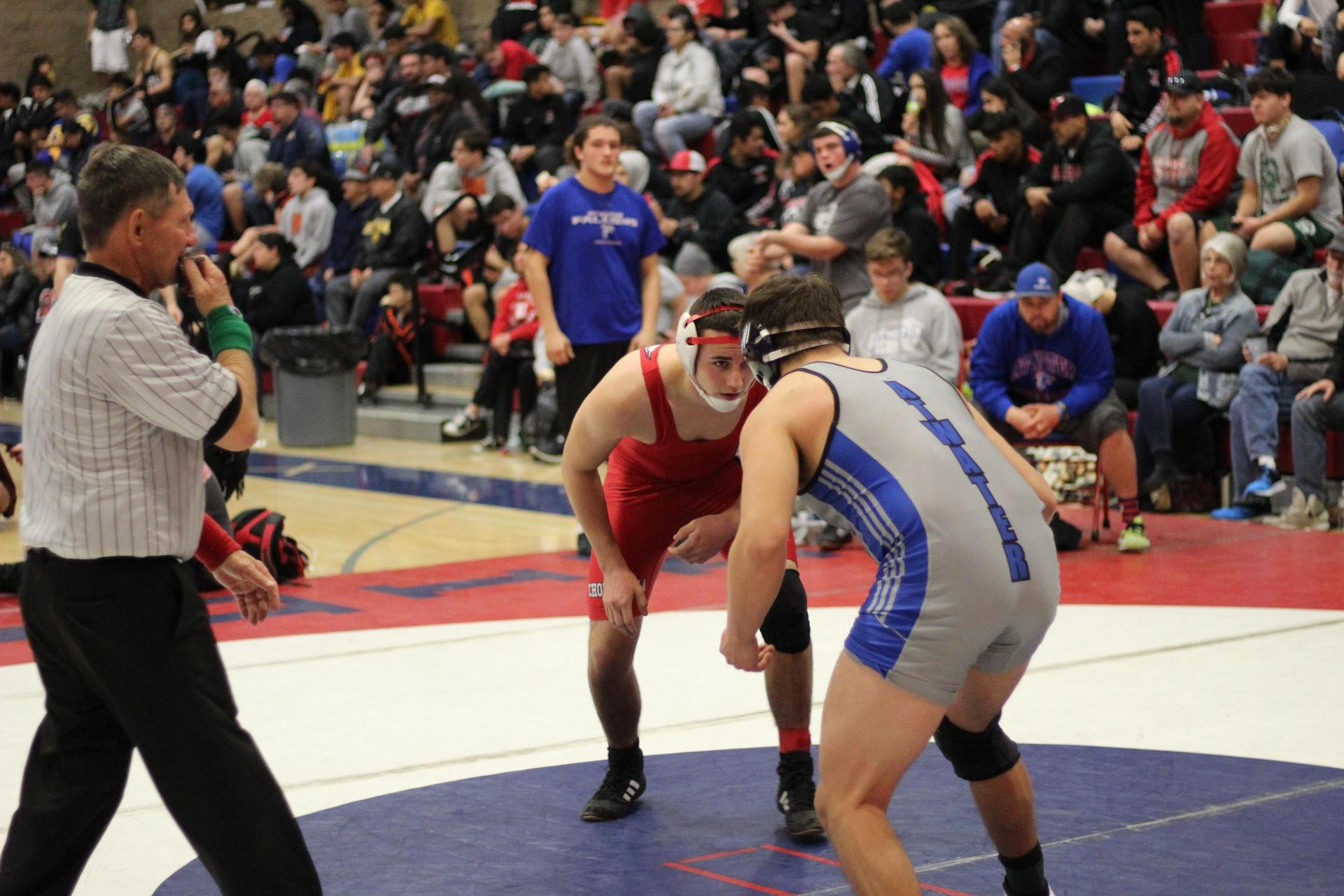 Chowchilla high athletes wrestling in Firebaugh