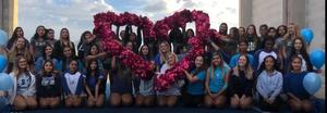 Canyon HS image of heart with cheer Pom poms