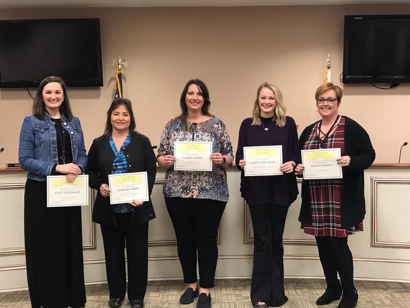2019 School Teachers of the Year at the February 12 Board Meeting