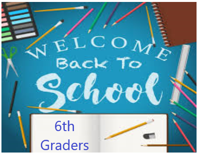 Welcome back 6th graders