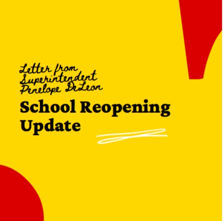 school reopening update banner