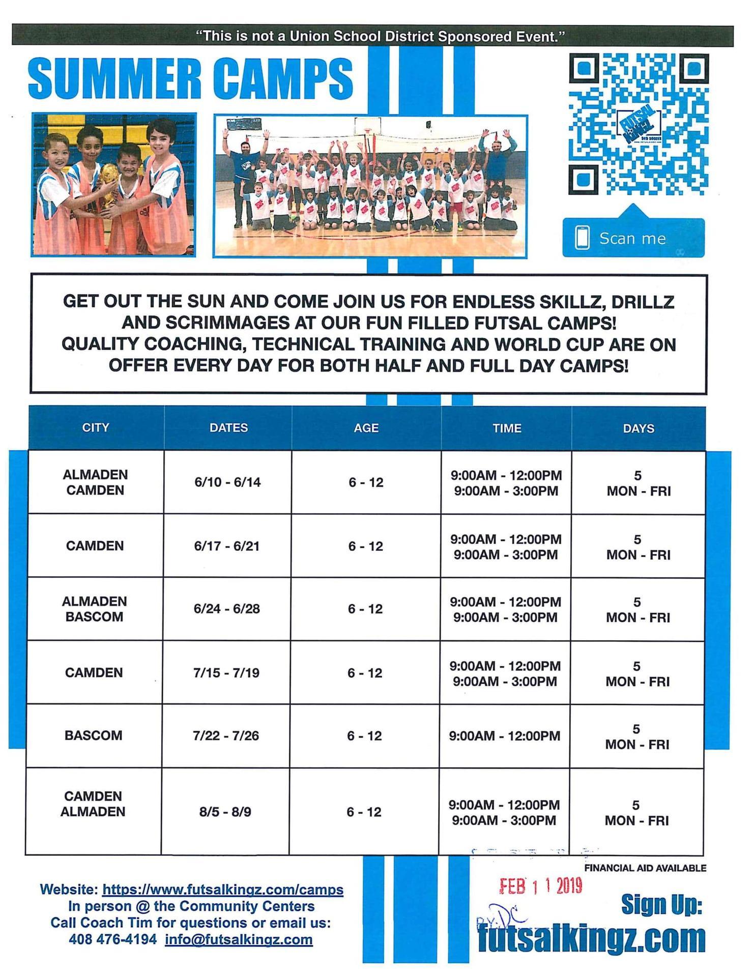 FutsalKingz Indoor Soccer Summer Camp