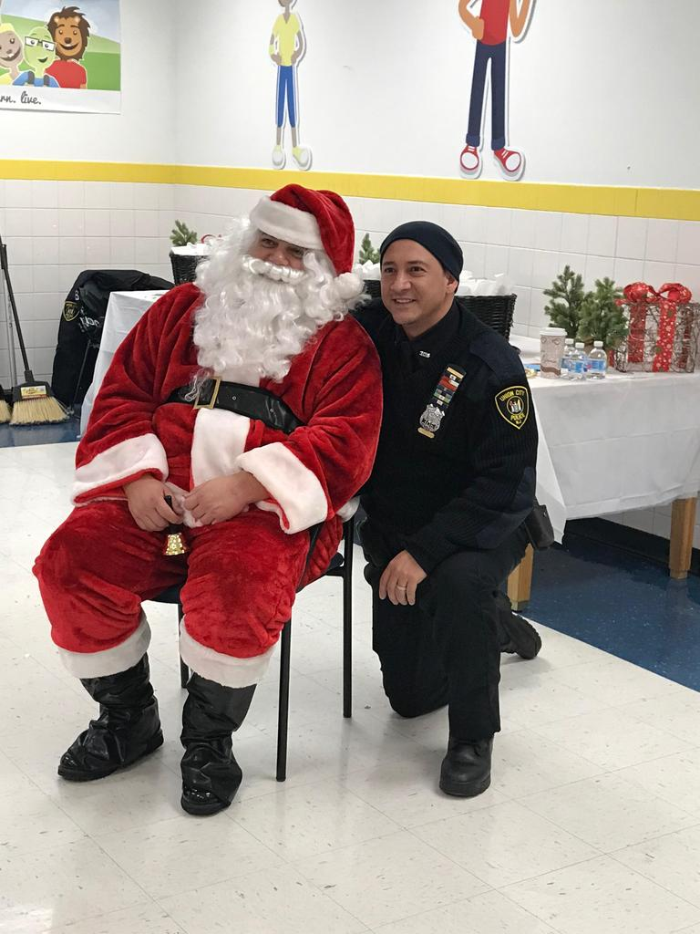 officer pena with santa