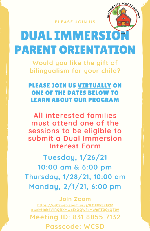 Dual Immersion Flyer