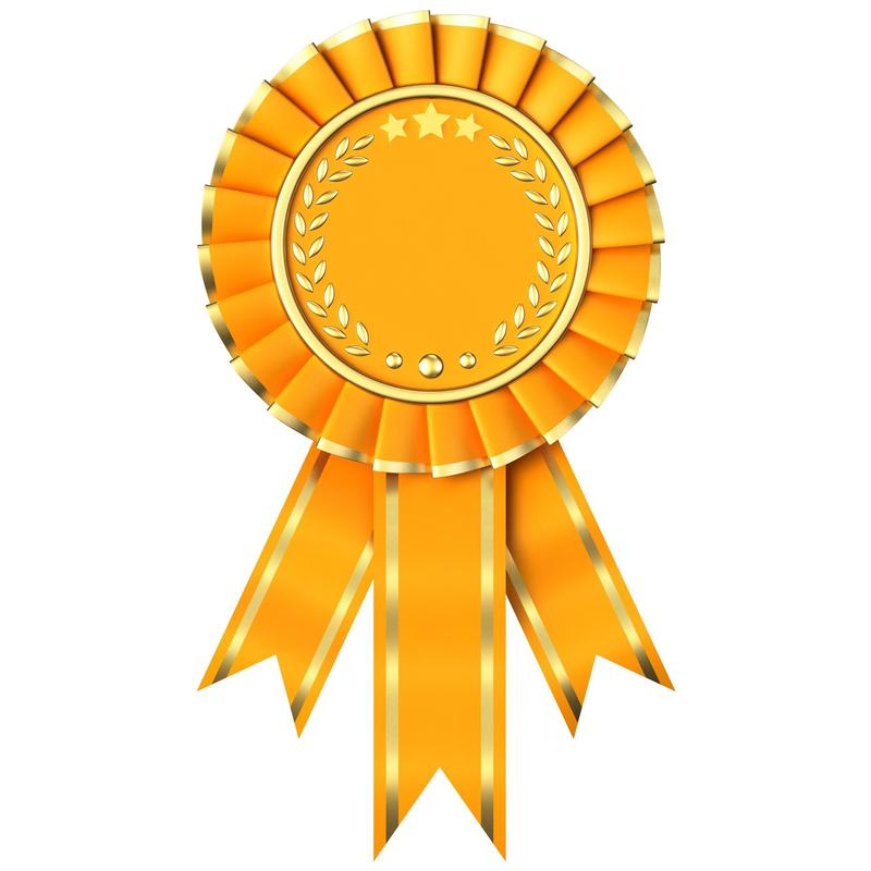 It is a picture of a gold ribbon.