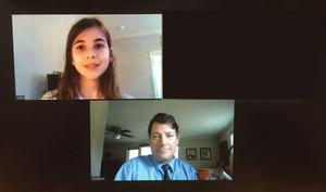 Judges met with St. Timothy's students virtually.