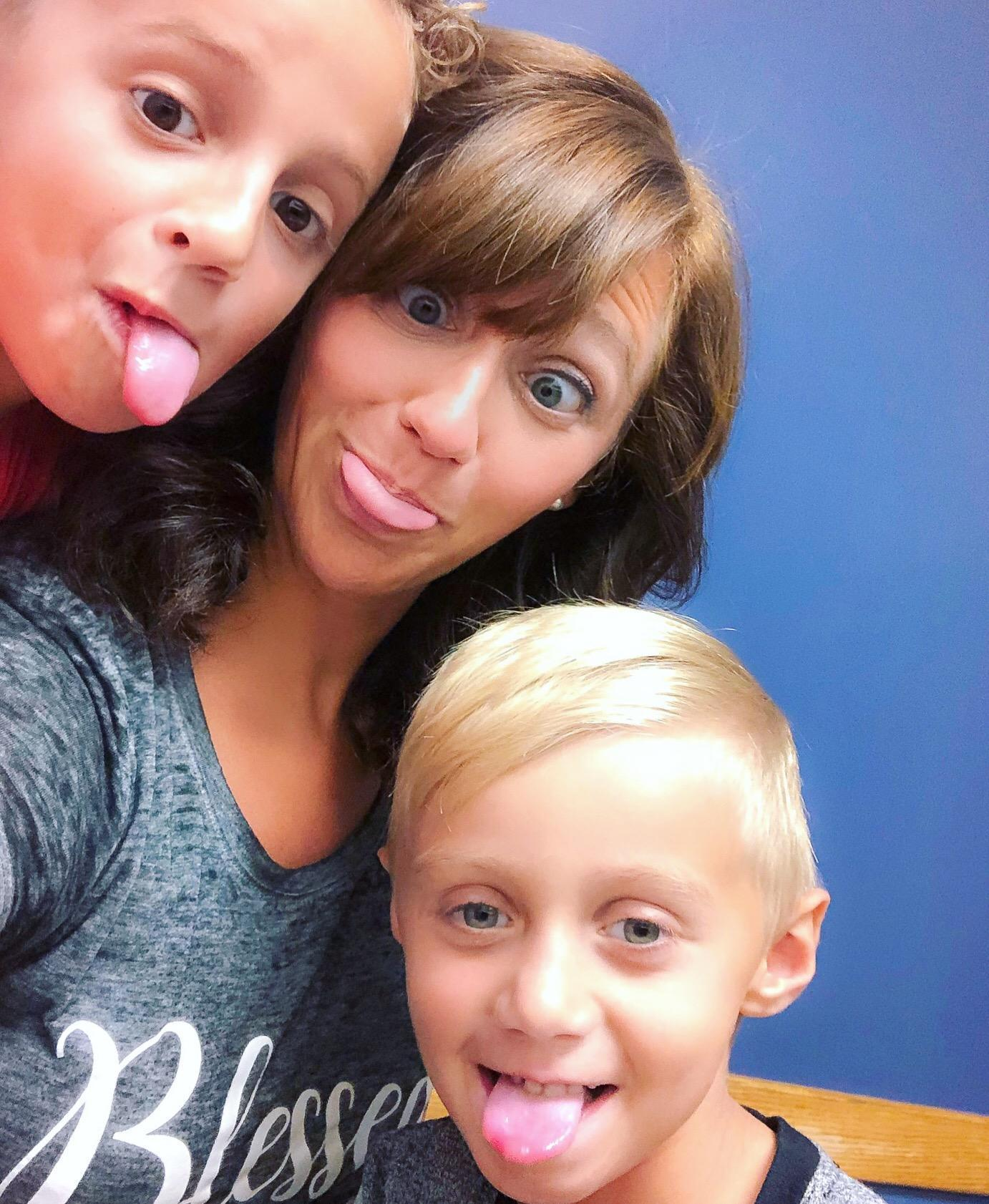 Being silly with my boys