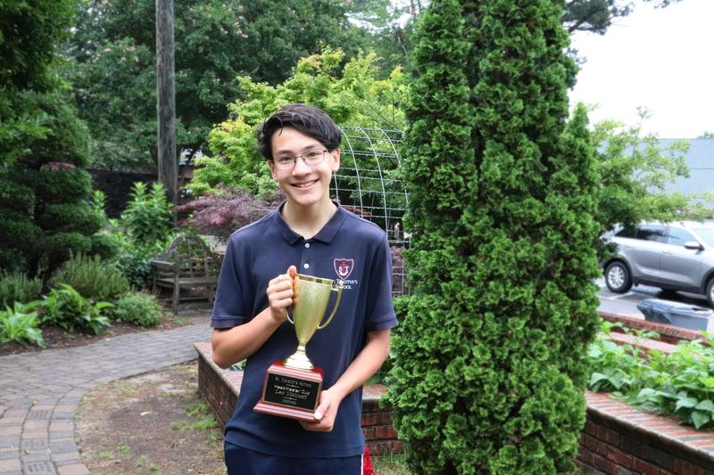 St. Timothy's students receive awards.