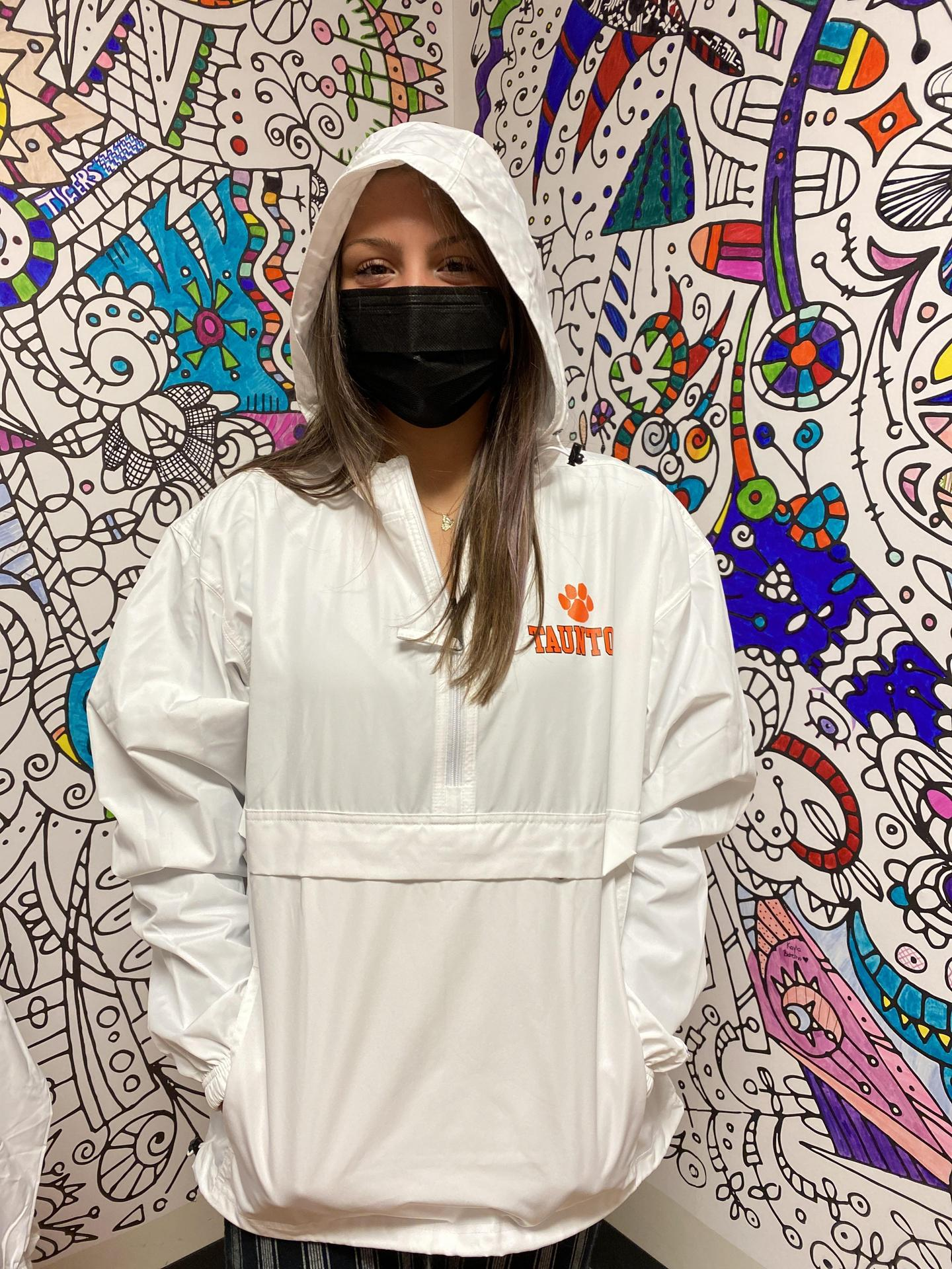 CHAMPION  ORANGE  WHITE BLACK GREY  PACNGO LIGHTWEIGHT PULLOVER JACKET WITH PAW OVER LEFT CHEST  XS-S-M-L-XL
