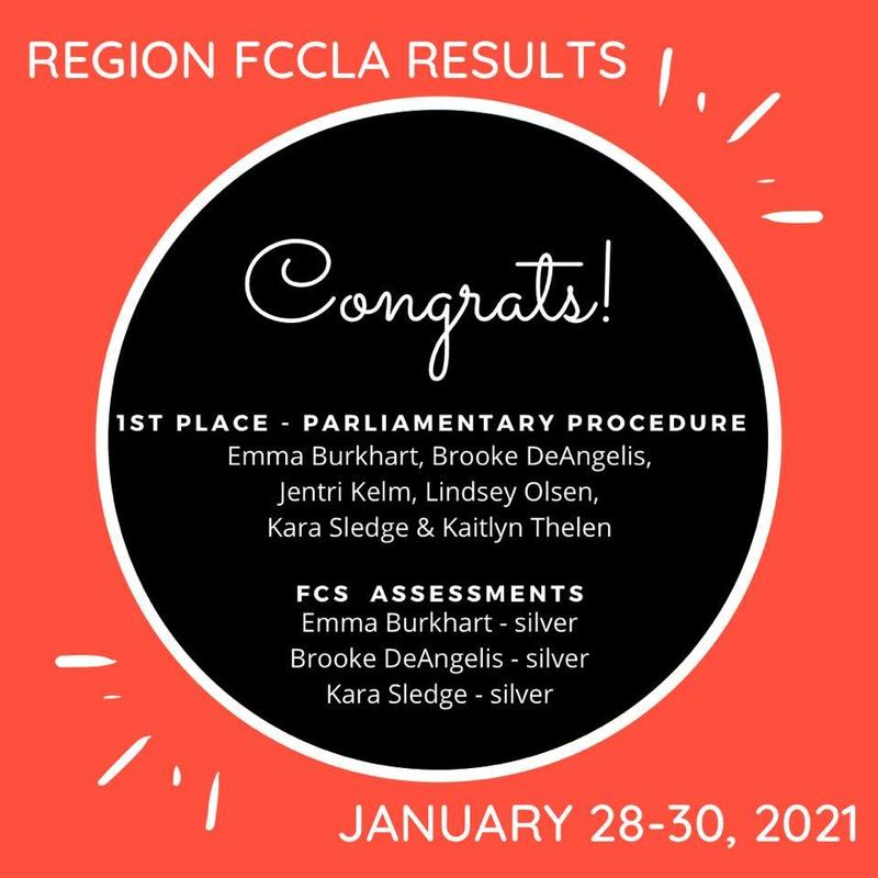 FCCLA Advances to State! Thumbnail Image