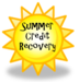 yellow sunshine with the words credit recovery typed in the middle