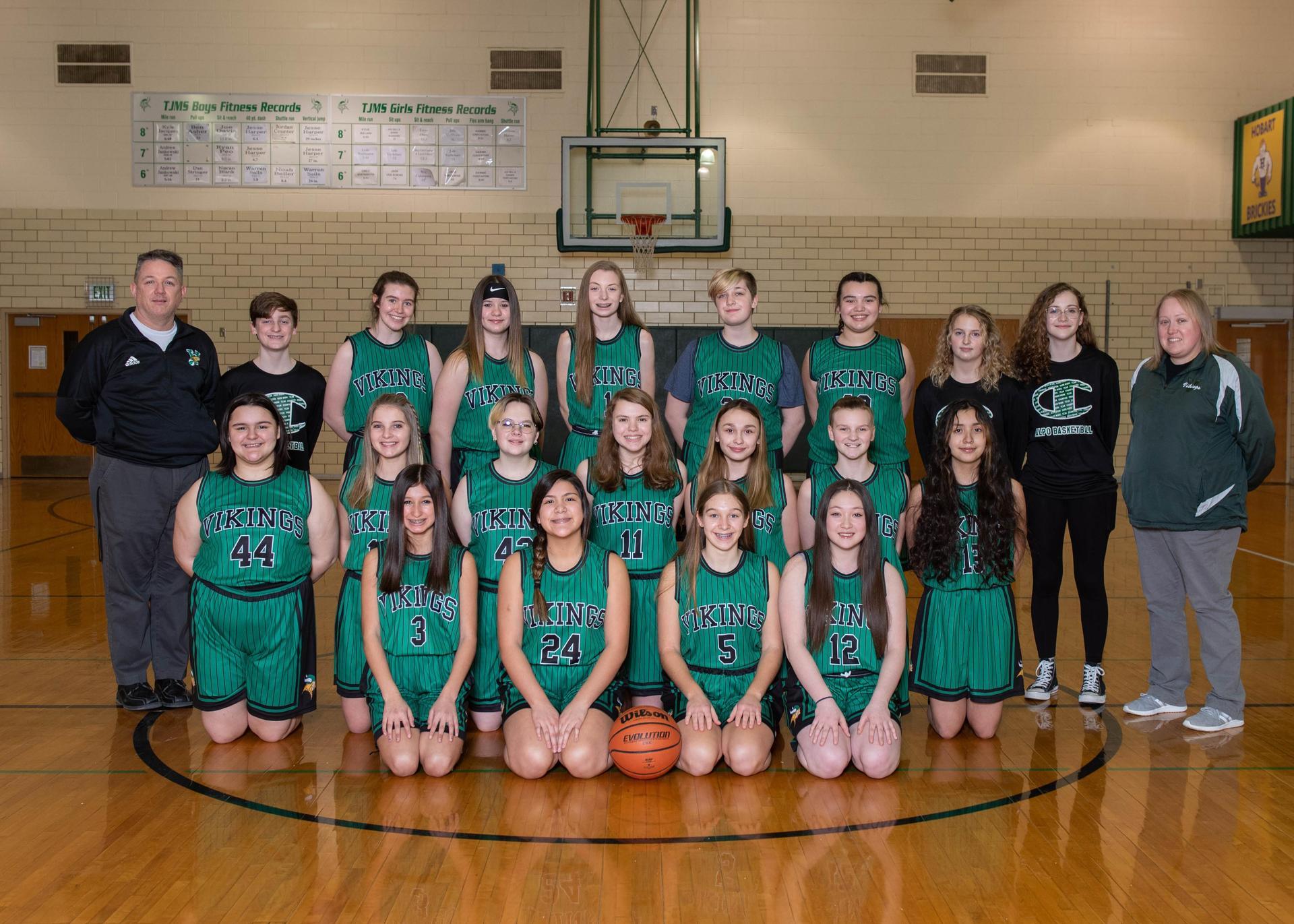 8th Grade Girls Basketball Photo