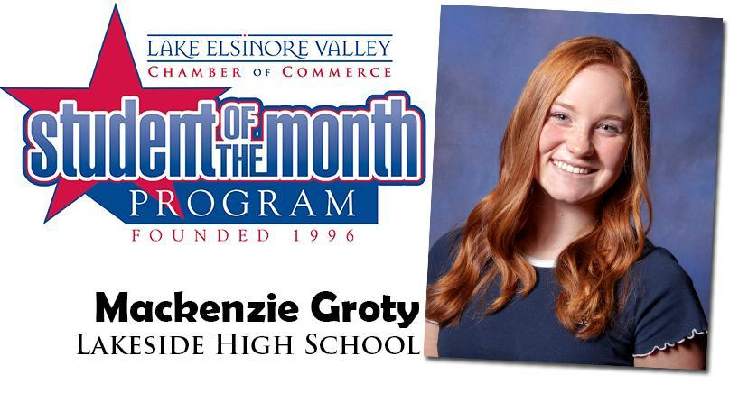 Mackenzie Groty, LHS Student of the Month, November 10, 2020.