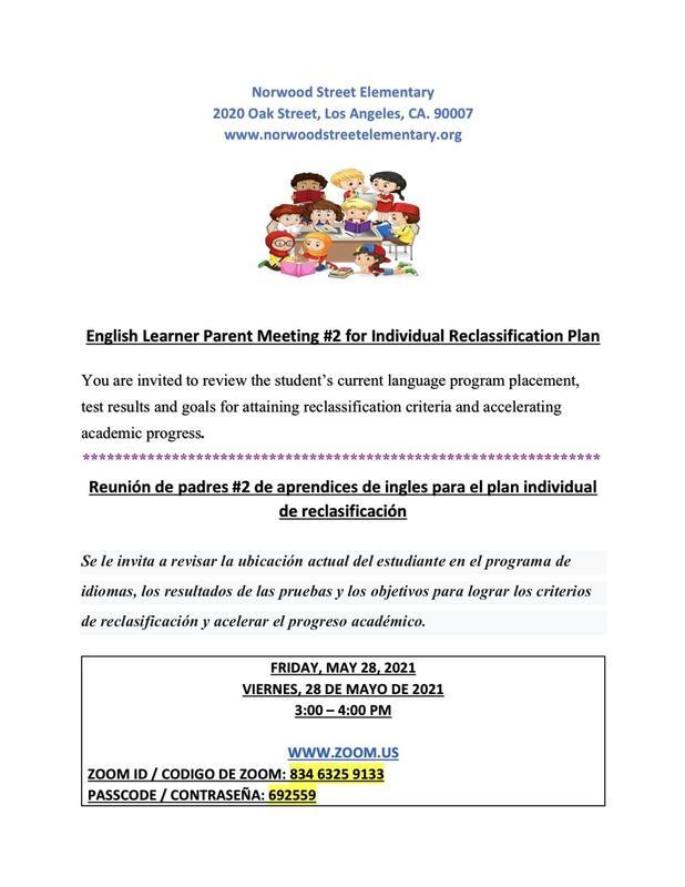 English Learner Parent Meeting #2 Featured Photo