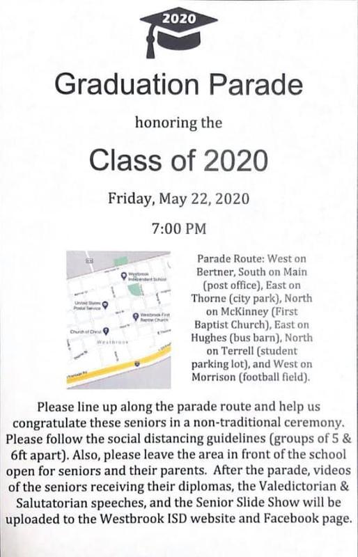 2020 Senior Parade Info Featured Photo