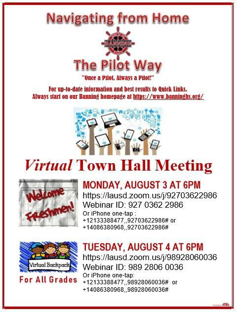 Virtual Town Hall Meeting Information Featured Photo
