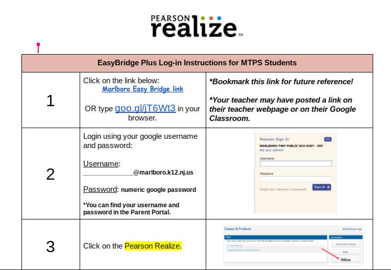 How to log onto Pearson Realize at home: – Ms  Nicole