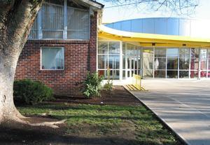 Front of Cornelius Elementary