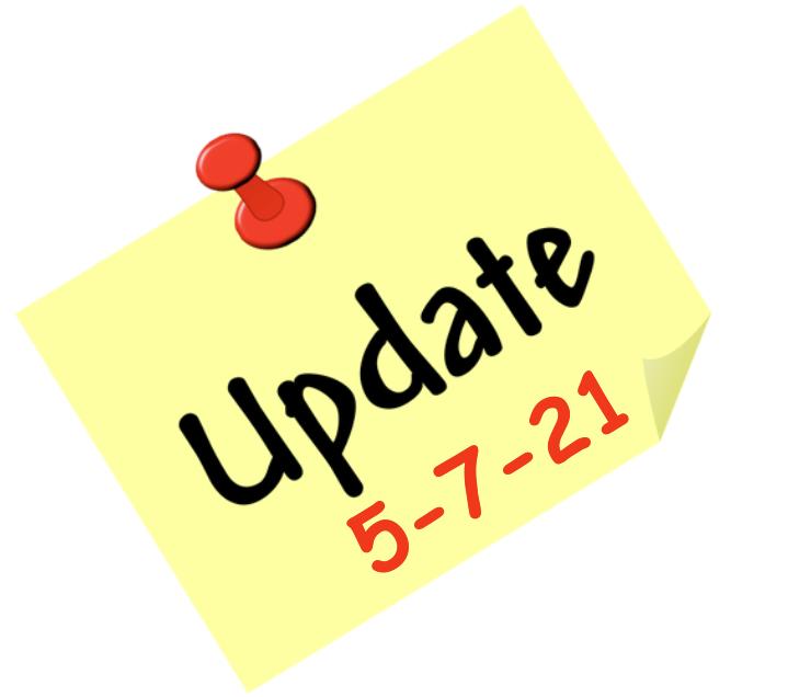 Update 5-7-21