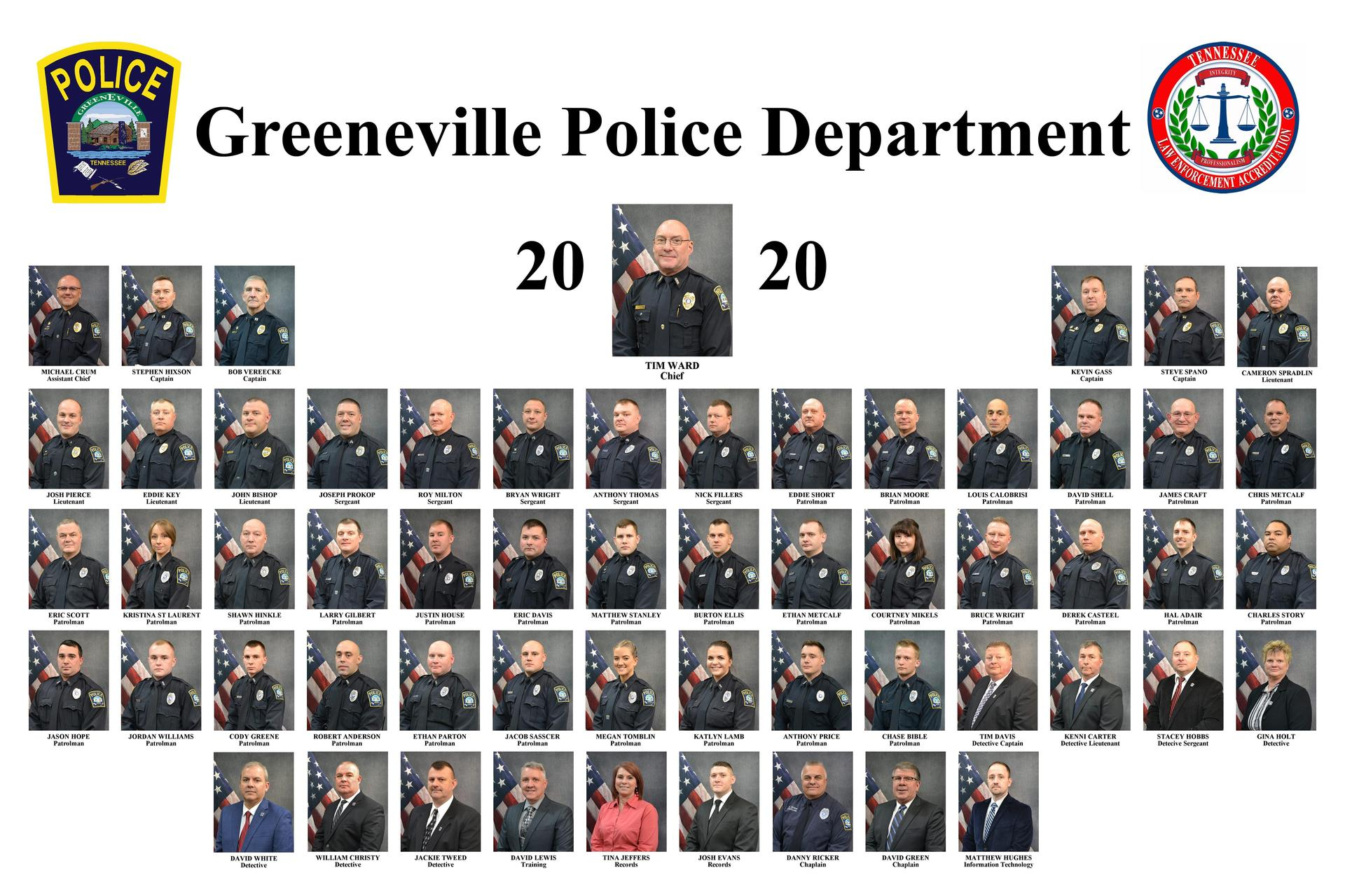 Collage Of All Greeneville Police Department Employees
