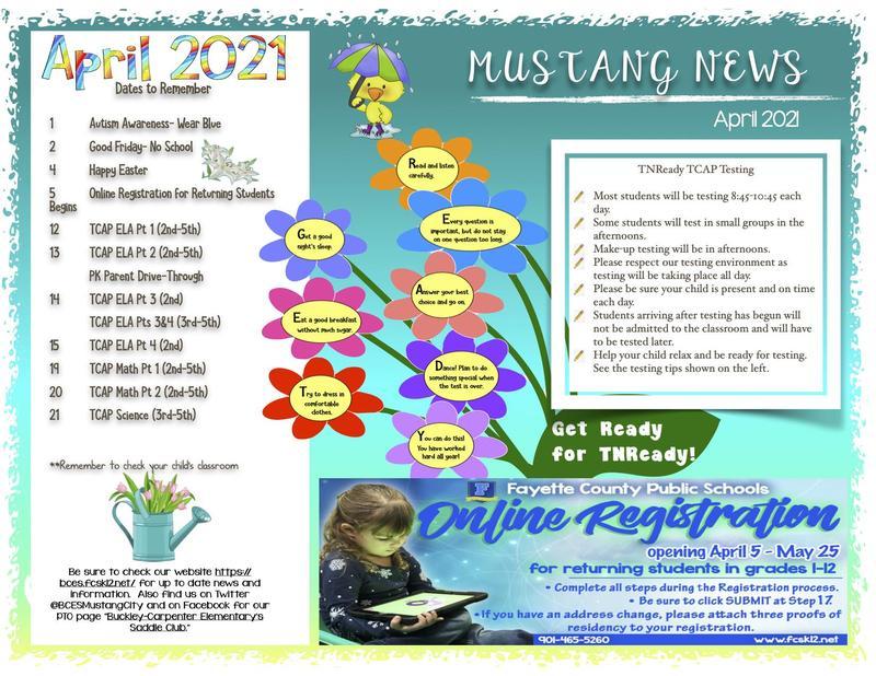 APril 2021 Newsletter Thumbnail Image