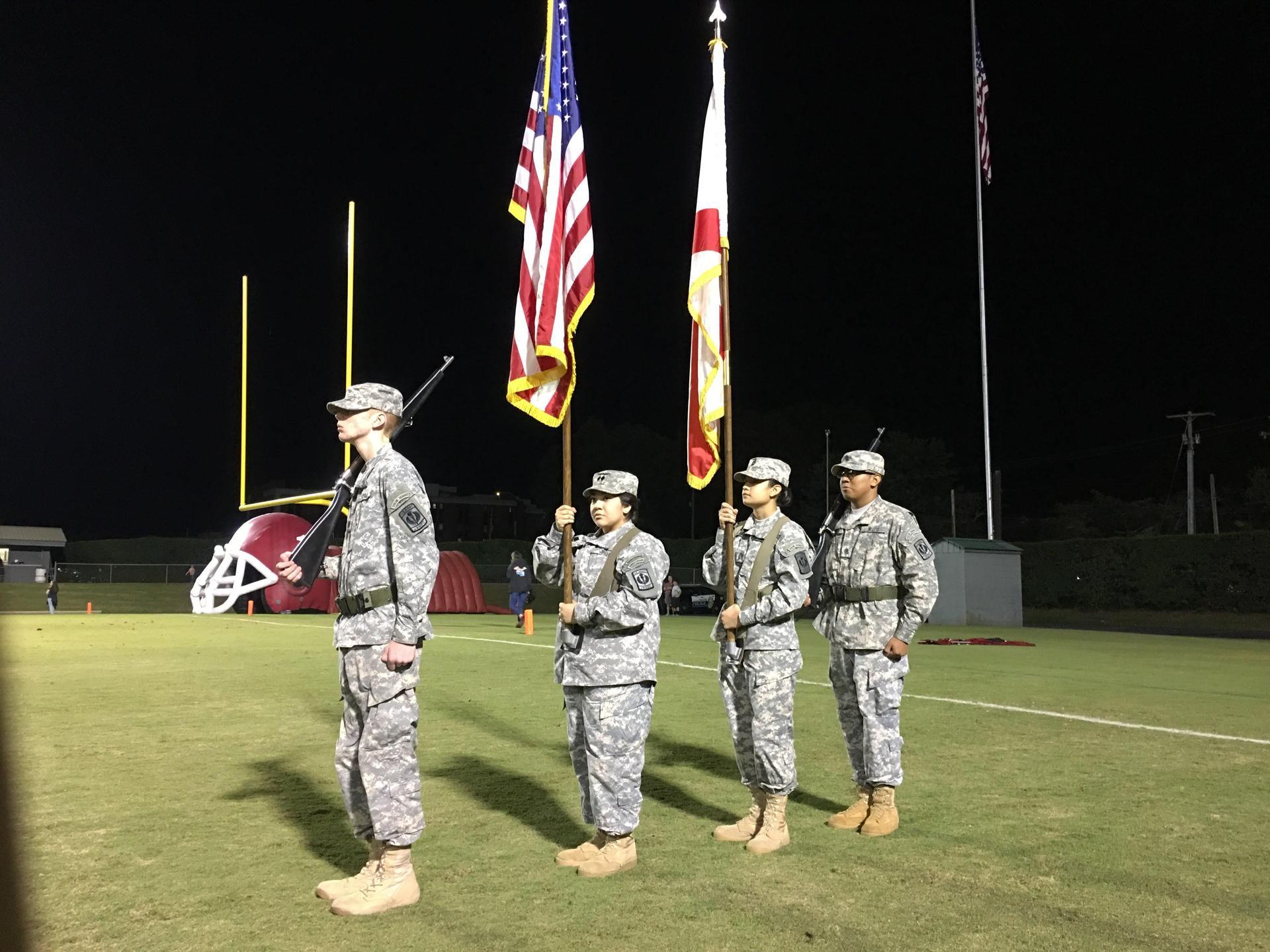 Color Guard Mission at Ogle Stadium