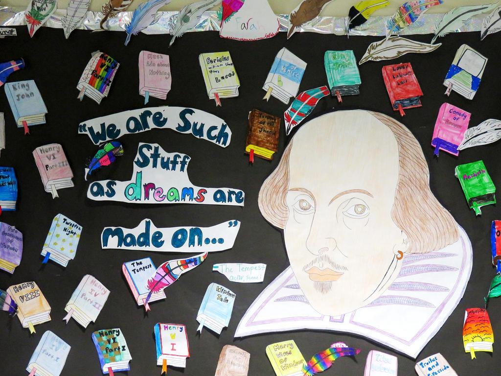 Wall art featuring Shakespeare