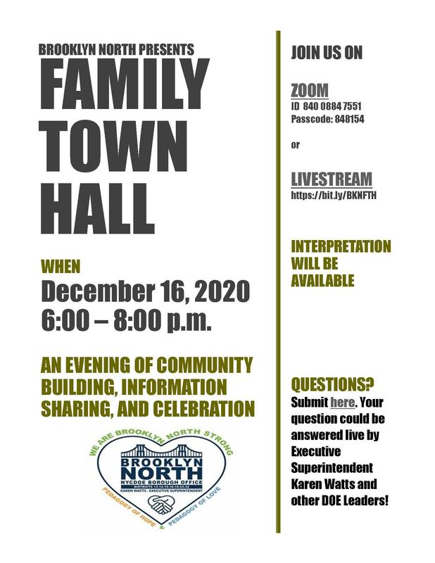 BKN Family Town Hall Flyer