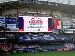 Astros Screen with Ms. Whitley name